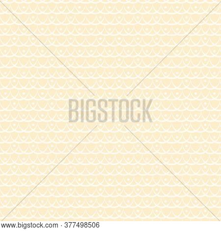Graphic Beige Seamless Drawing. Abstract Beige Background
