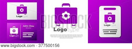 Logotype Toolbox Icon Isolated On White Background. Tool Box Sign. Logo Design Template Element. Vec