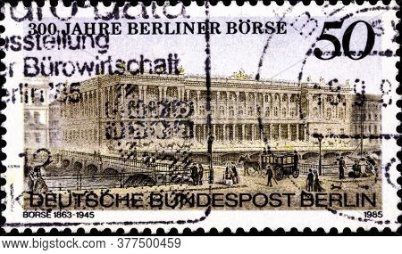 02 09 2020 Divnoe Stavropol Territory Russia The Postage Stamp Germany West Berlin 1985 The 300th An