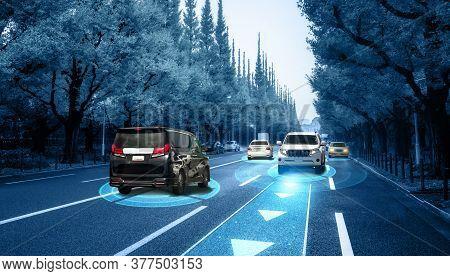 Autonomous Car Sensor System Concept For Safety Of Driverless Mode Car Control . Future Adaptive Cru