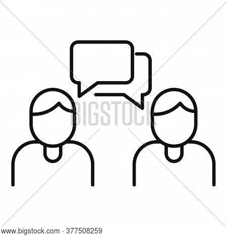 Storyteller Group Icon. Outline Storyteller Group Vector Icon For Web Design Isolated On White Backg