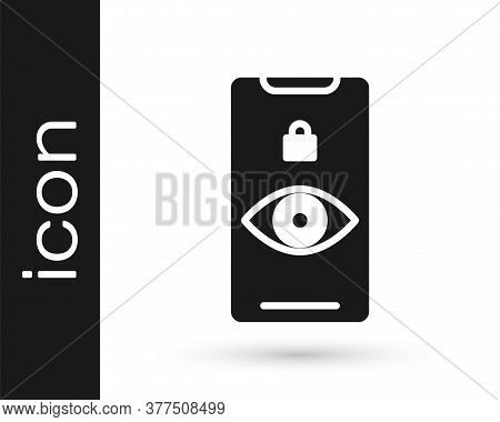 Grey Eye Scan Icon Isolated On White Background. Scanning Eye. Security Check Symbol. Cyber Eye Sign