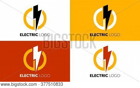 Lighting Yellow Bolt Flash Logo Design Vector Element. Fast Quick Power Rapid Icon Design Concept Sy