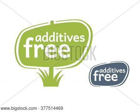 Additives Free Stamp In Wooden Signboard Association - Monochrome Sticker (stamp) For Healhty Organi
