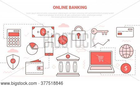 Online Banking Concept With Laptop And Online Shopping Security Database For Website Homepage Templa