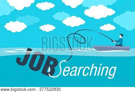 Job Searching (job Hunting) And Staff Recruitment Concept - Creative Visualization Of  In Associatio