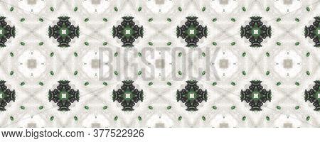 Portuguese Decorative Tiles Background. Emerald Portuguese Illustration. Graphic Fine Texture. Portu