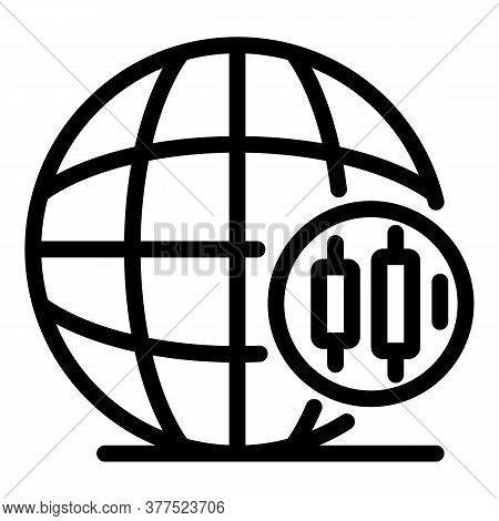 Global Trader Icon. Outline Global Trader Vector Icon For Web Design Isolated On White Background