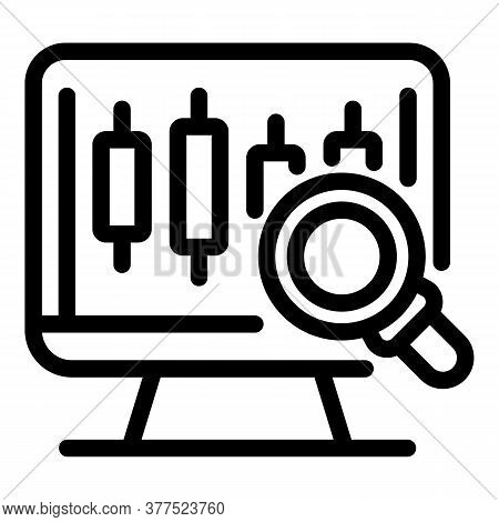 Trader Online Analysis Icon. Outline Trader Online Analysis Vector Icon For Web Design Isolated On W