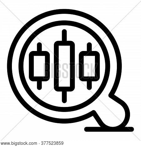 Trader Magnifier Icon. Outline Trader Magnifier Vector Icon For Web Design Isolated On White Backgro