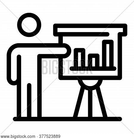 Trader Man Show Banner Icon. Outline Trader Man Show Banner Vector Icon For Web Design Isolated On W