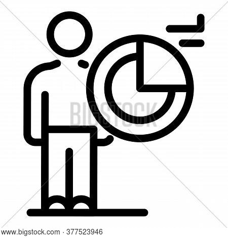 Working Broker Icon. Outline Working Broker Vector Icon For Web Design Isolated On White Background