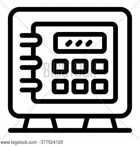 Broker Money Safe Icon. Outline Broker Money Safe Vector Icon For Web Design Isolated On White Backg