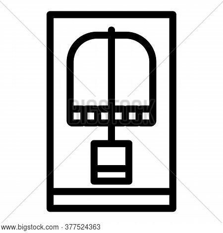 Mouse Cheese Animal Trap Icon. Outline Mouse Cheese Animal Trap Vector Icon For Web Design Isolated