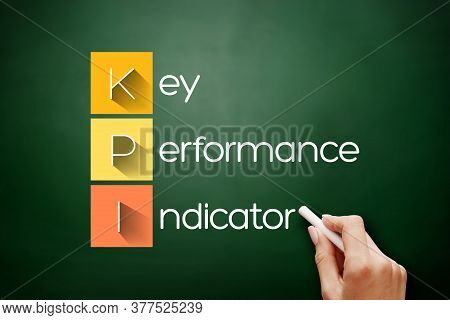 Kpi - Key Performance Indicator Acronym On Blackboard, Business Concept Background