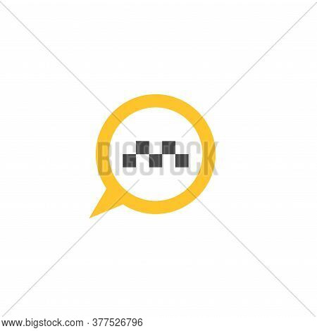 Map Pin With Taxi Car Sign. Taxi Service Vector Icon. Taxi Map Pointer, Taxi Signs.