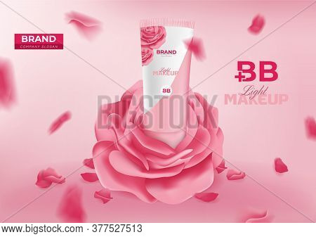 Bb Beauty Cream Cosmetic Ad Vector Banner Template Design