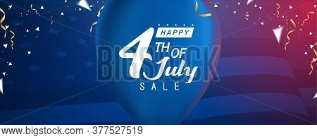 Happy 4th Of July Sale, Happy Independent Day Sale Banner
