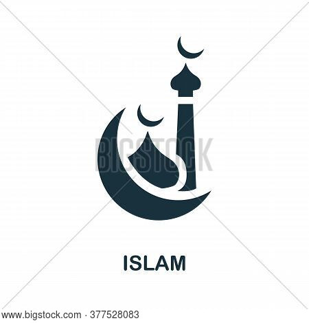 Islam Icon. Simple Element From Religion Collection. Creative Islam Icon For Web Design, Templates,