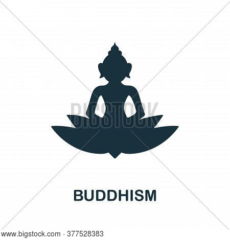 Buddhism Icon. Simple Element From Religion Collection. Creative Buddhism Icon For Web Design, Templ