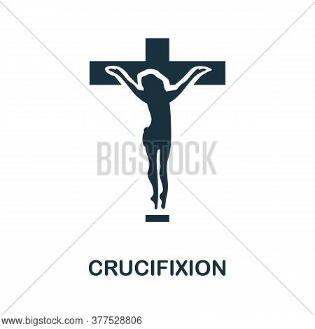 Crucifixion Icon. Simple Element From Religion Collection. Creative Crucifixion Icon For Web Design,