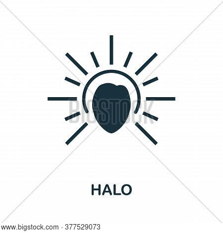 Halo Icon. Simple Element From Religion Collection. Creative Halo Icon For Web Design, Templates, In