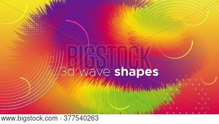 Fluid Dynamics. Neon Flyer. Gradient Concept. Liquid Creative Poster. Abstract Motion. Fluid Dynamic