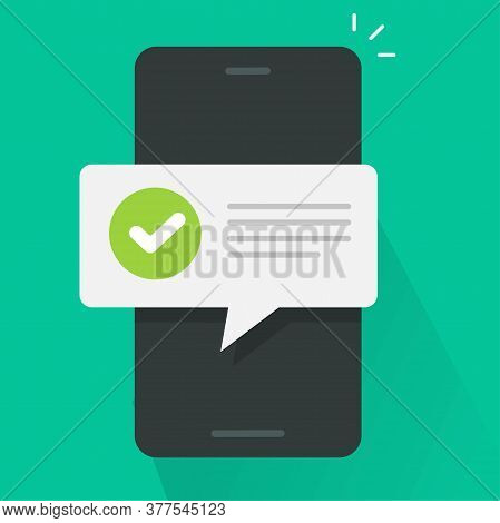 Push Notice Notification Message On Mobile Phone, Smartphone Cellphone Sms Speech Bubble With Update
