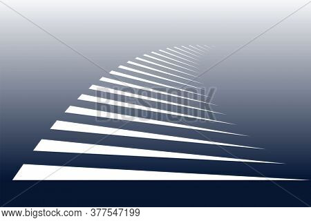 White lines on blue background. Symbolic stripes of zebra crossing.
