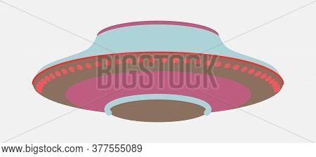 Ufo - Flying Saucer, Unidentified Flying Object Flat Style Illustration Isolated On White Background