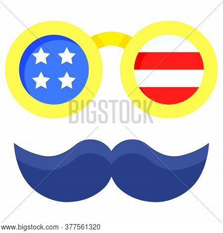 Disguise Glasses Vector, United State Independence Day Related Icon