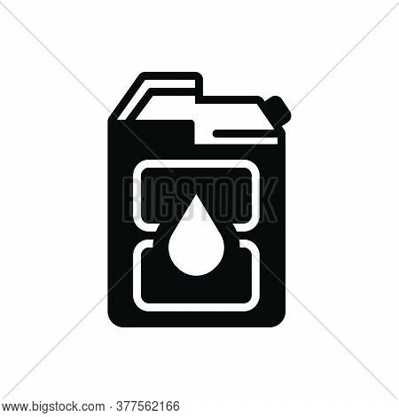Black Solid Icon For Diesel Fuel Gasoline Petrol Pump Jerrycan Canister Automobile Refueling