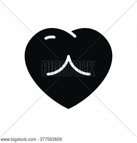 Black Solid Icon For Heart Love Romance Romantic Cardiology Valentine Romantic Human