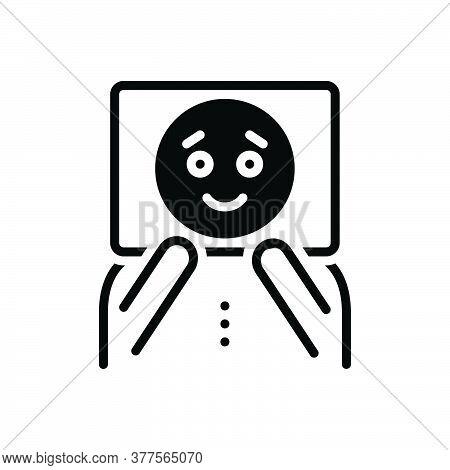 Black Solid Icon For Pretend Dream Imaginary Unreal Fancitful Bogus Face Mask