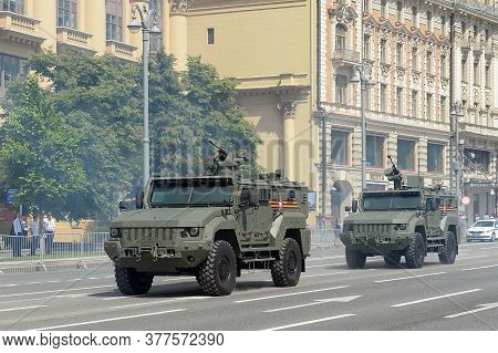 Moscow, Russia - June 24, 2020: Multi-purpose Armored Vehicle