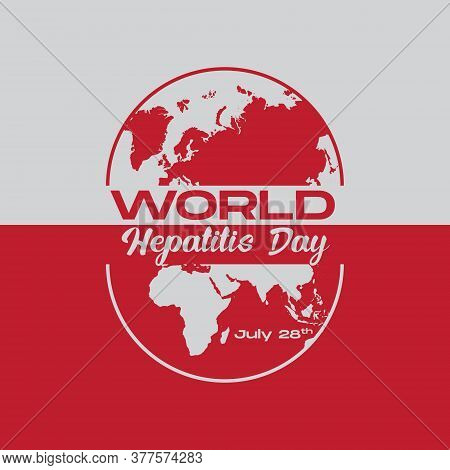 Vector Illustration,banner Or Poster Of Happy World Hepatitis Day. Happy World Hepatitis Day Concept