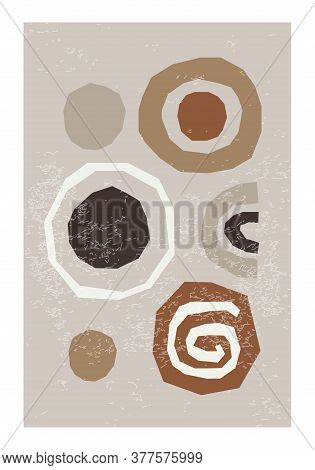 Creative Trendy Abstract Collage Background Minimalist Style