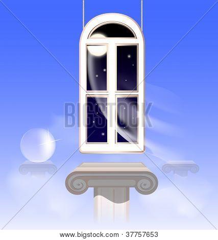 window in the nightly sky