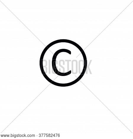 Illustration Vector Graphic Of Copyright Label Icon