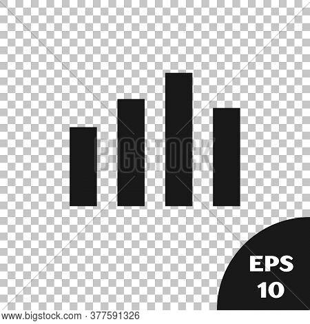 Black Music Equalizer Icon Isolated On Transparent Background. Sound Wave. Audio Digital Equalizer T