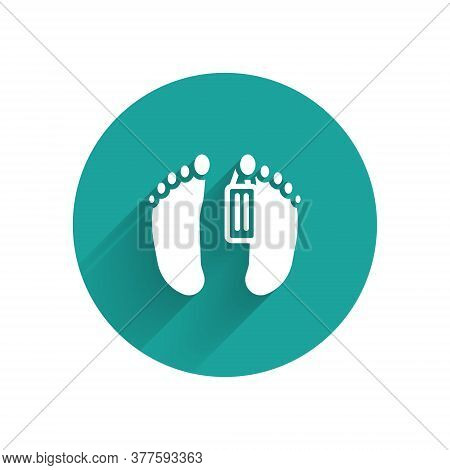 White Dead Body With An Identity Tag Attached In The Feet In A Morgue Of A Hospital Icon Isolated Wi