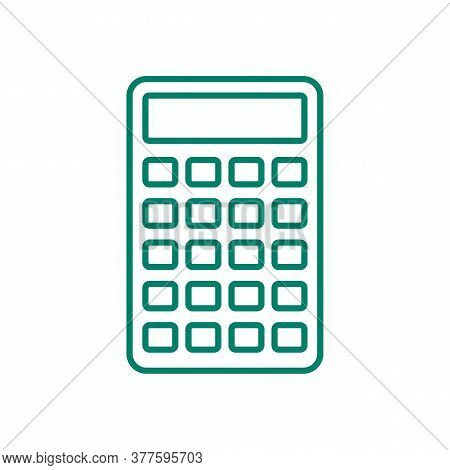 Calculator Icon. Drop Shadow Calculation Silhouette Symbol. Office Equipment. Business Electronic De