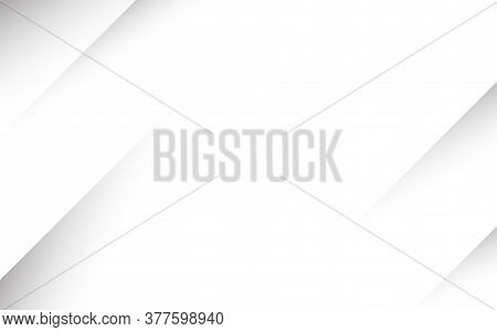White And Gray Geometric Dynamic Oblique Lines Paper Shape Abstract Subtle Background Vector Design