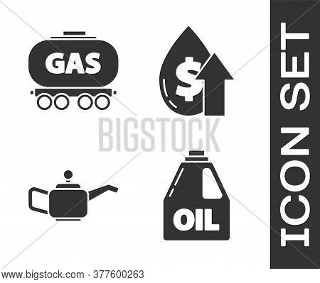 Set Canister For Motor Machine Oil, Gas Railway Cistern, Canister For Motor Machine Oil And Oil Pric