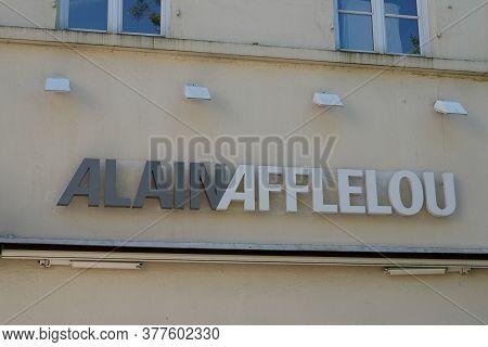 Bordeaux , Aquitaine / France - 07 17 2020 : Alain Afflelou Text Sign Logo For Optical Store Front S