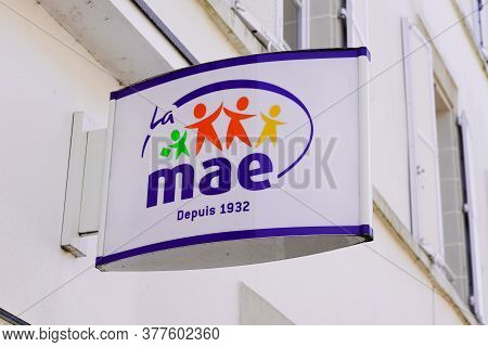 Bordeaux , Aquitaine / France - 07 17 2020 : Mae Logo And Store Sign Of French Multinational Insuran