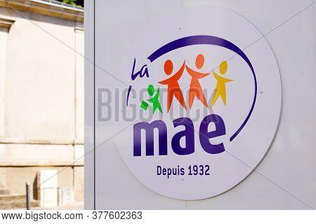 Bordeaux , Aquitaine / France - 07 17 2020 : Mae Mutuelle Assurance De L'éducation Sign And Logo Of