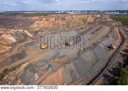 Aerial View Of The Iron Ore Mining