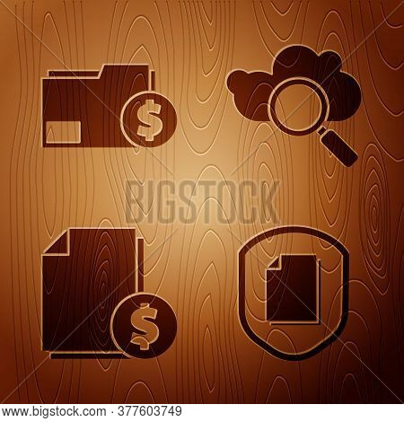 Set Document Protection Concept, Finance Document Folder, Finance Document And Search Cloud Computin
