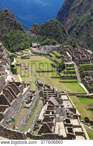 Machu Picchu old town on a sunny day